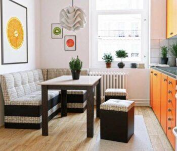 Дизайн маленькой кухни 2021 года: примеры необычной планировки и функционального зонирования пространства в интерьере кухни (100 фото)