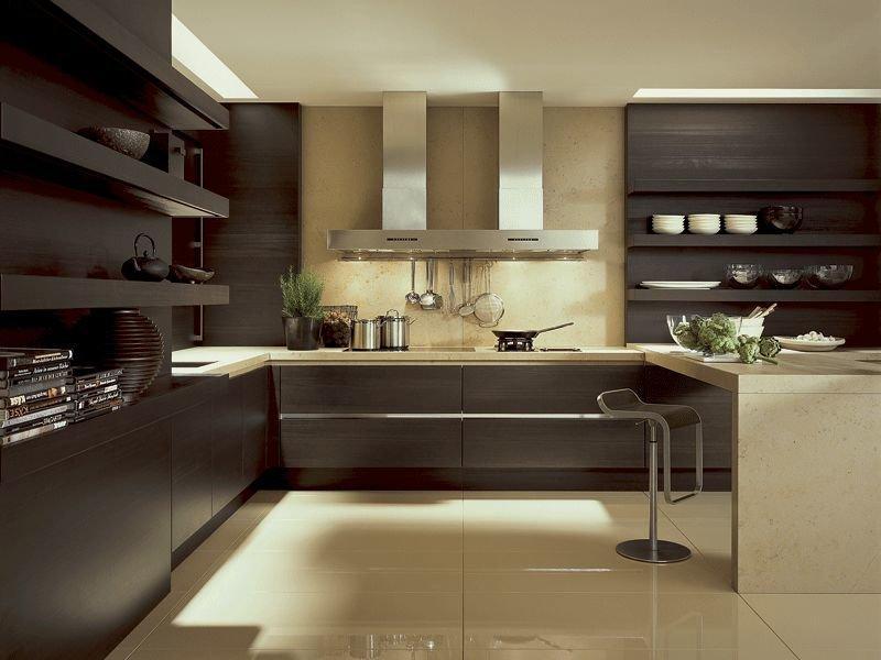 Коричневая кухня: варианты удачного сочетания оттенков коричневого цвета с элементами интерьера кухни (115 фото)