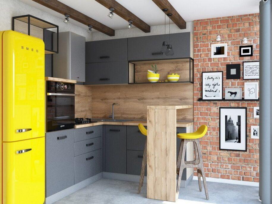 Кухня в стиле Лофт: 110 фото лучших идей по оформлению интерьера