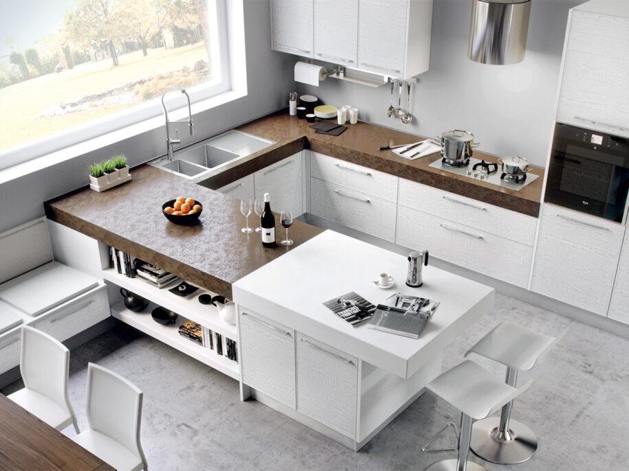 Планировка кухни: варианты необычного и практичного зонирования. Фото красивого и современного дизайна