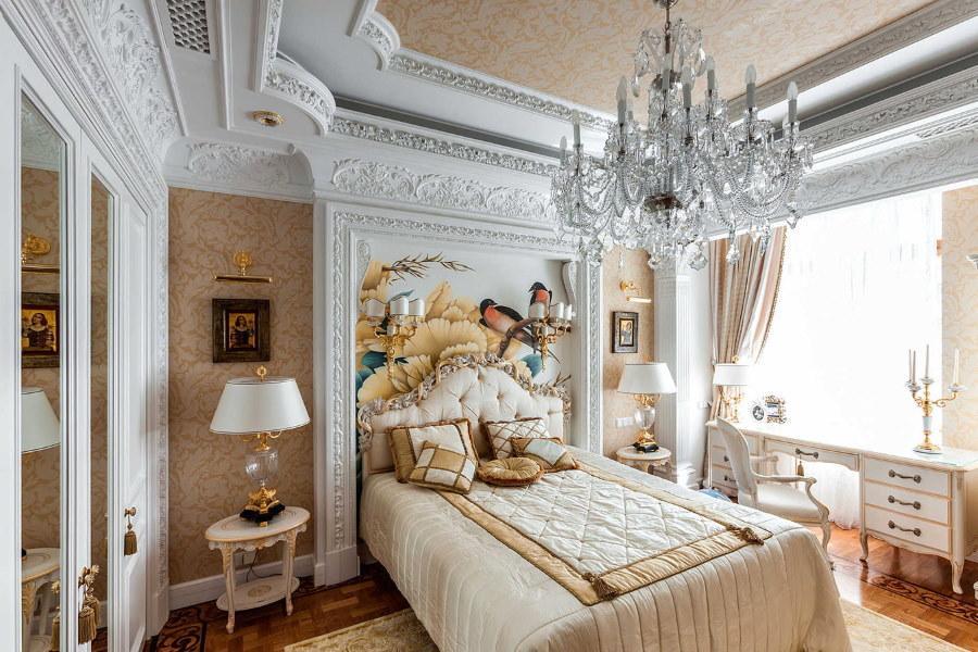 Потолок в спальне — примеры красивой отделки и оформления дизайна (77 фото идей)