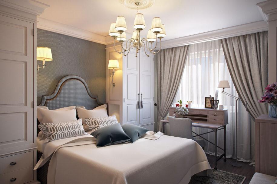 Спальня 9 кв. м. — 80 фото идей планировки, зонирования и дизайна в маленькой спальне