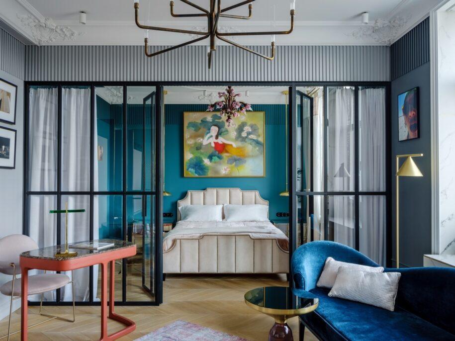 Спальня-гостиная: готовый дизайн-проекты, с описанием, как совместить два интерьера (95 фото идей)