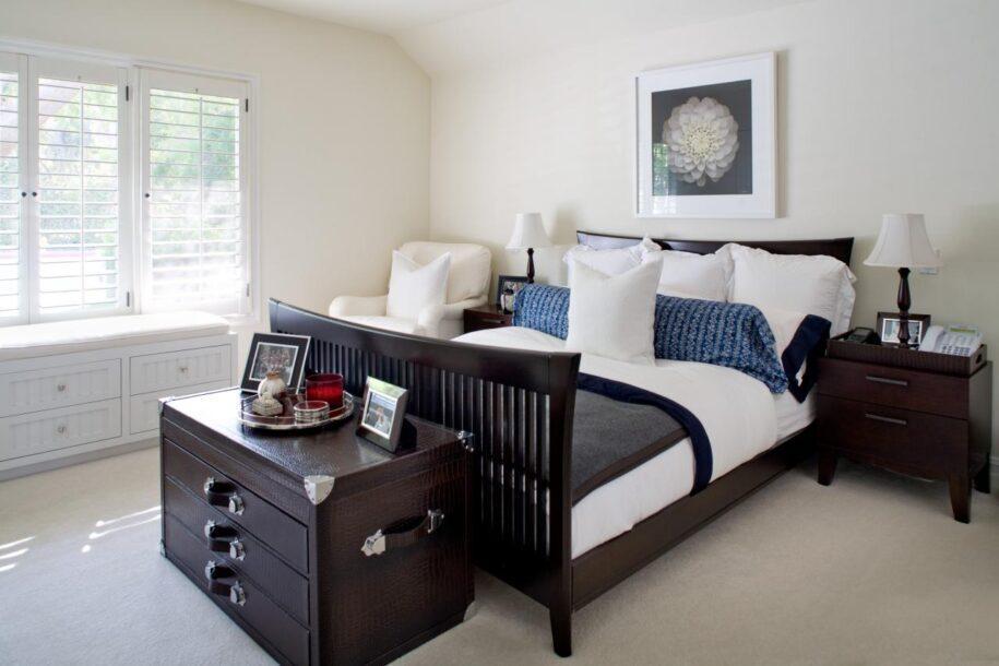 Спальня с темной мебелью: правила выбора цветового оттенка и его сочетание (130 фото)