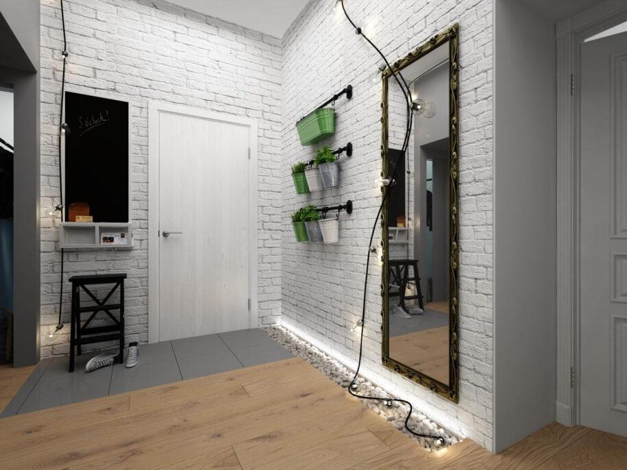 Стены в прихожей: примеры красивой отделки. Фото современного дизайна + идеи по выбору отделочных материалов