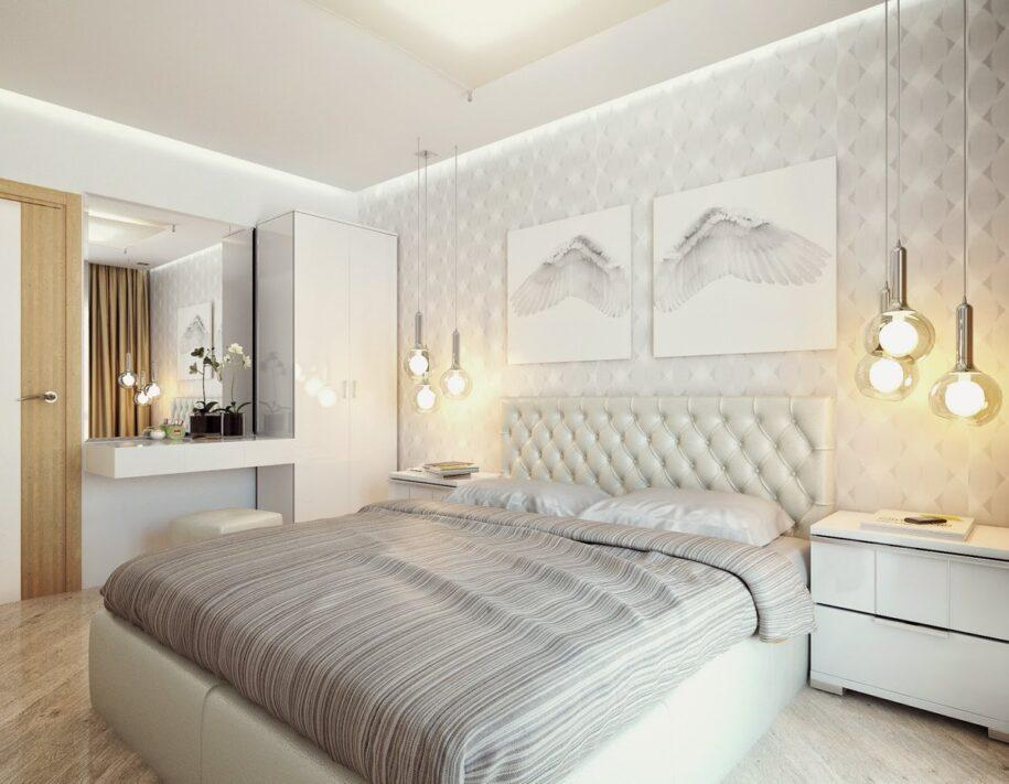 Светлая спальня — 150 фото необычного оформления дизайна спальни в светлых тонах