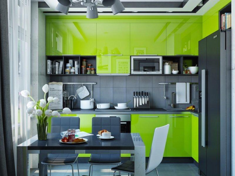 Зеленая кухня: 90 фото идей по сочетанию цвета, а также варианты оттенков для современной кухни