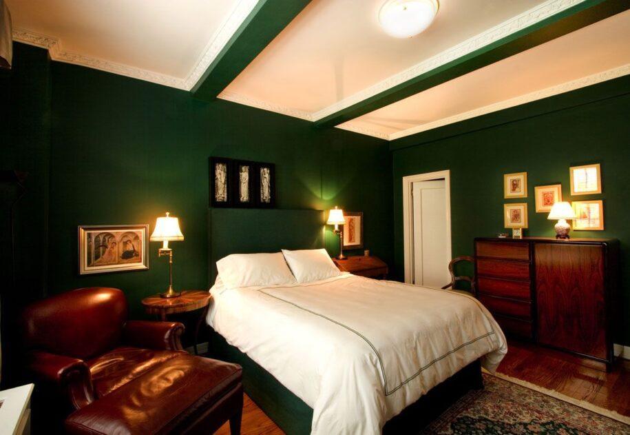 Зеленая спальня — идеи для правильного сочетания и дизайна спальни с зелеными оттенками