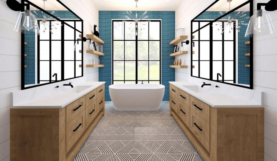 Цвет плитки в ванной — какой выбрать? Лучшие дизайнерские решения 2021 года + обзор комбинирования (115 фото)
