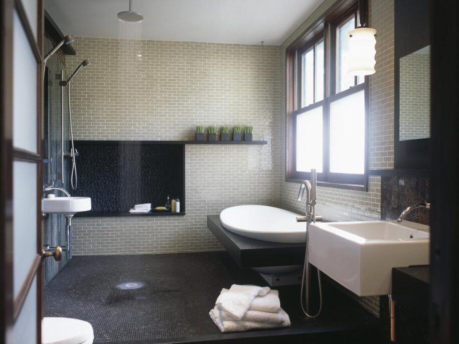 Дизайн совмещенной ванной с туалетом — примеры красивой и современной планировки (90 фото)